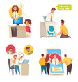 call center concept compositions vector image