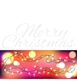 Christmas Garland With Gradient Mesh and lights vector image vector image