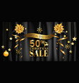 christmas sale banner design for poster web vector image