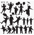 clown silhouettes vector image