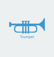 colored trumpet icon silhouette icon vector image