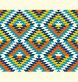 colorful classic aztec diamonds pattern vector image vector image