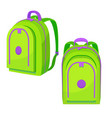 colorful school backpack in cartoon style vector image vector image