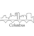 columbus city one line drawing vector image