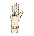 comic cartoon spooky hand symbol vector image