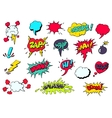 Comic speech bubbles for different emotions vector image
