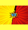 comic versus competitive concept vector image vector image