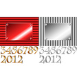 Corrugated 2012 plate with other numbers vector image