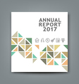 Cover new annual report colorful triangle design vector image vector image