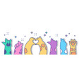 cute cat paws set vector image vector image