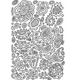 doodle psychedelic coloring page with abstract vector image vector image