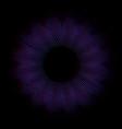 dynamic shape particles blue and purple color vector image
