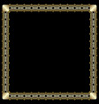 elegant square border with 3d embossed effect vector image vector image