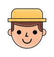 farmer character isolated icon vector image