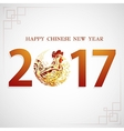 Greeting card for 2017 Chinese New Year vector image vector image