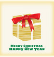 happy christmas and new year box gift stylized vector image