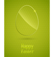 happy easter background with glass egg vector image