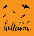 happy halloween card flat design vector image