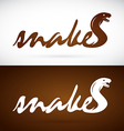image an design snake is text vector image