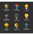 Light bulb - idea creative technology icons vector image