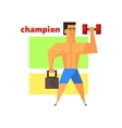 Man Champion Abstract Figure vector image vector image