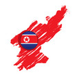 map of north korea with a label vector image
