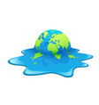 melting earth concept global warming design vector image