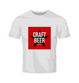 modern craft beer drink logo sign for bar vector image vector image