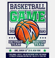 modern professional sports design poster vector image vector image