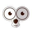 monster face emoticon icon vector image vector image