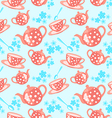 morning tea seamless pattern vector image vector image