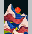 mountain landscape with different textures vector image vector image