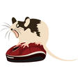 mouse on a computer mouse vector image vector image