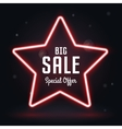 Neon Frame Sale star banner vector image vector image