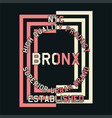 nyc quality product bronx vector image vector image