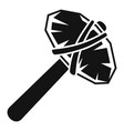 old stone hammer icon simple style vector image