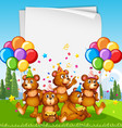 paper template with cute animals in party theme vector image vector image