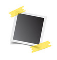 photo frame with adhesive tape isolated on white vector image vector image