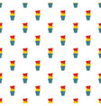 plant pot pattern seamless vector image
