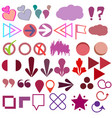 quote asterisk footnote icons hashtag social med vector image