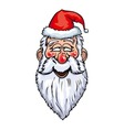 Santa Claus Enamored Head vector image vector image