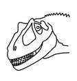 saurophaganax icon doodle hand drawn or black vector image vector image