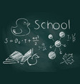school board with inscriptions and drawings with vector image vector image