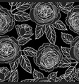 seamless pattern with graphic dark roses vector image vector image
