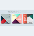 set abstract geometric layout minimal style vector image vector image
