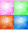 set of four polygonal backgrounds vector image vector image