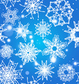 Snowflake Pattern Christmas and new year concept vector image vector image