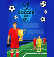soccer sport club banner template of football team vector image vector image
