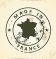 Stamp with map of France vector image vector image