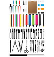 stationery collection vector image vector image